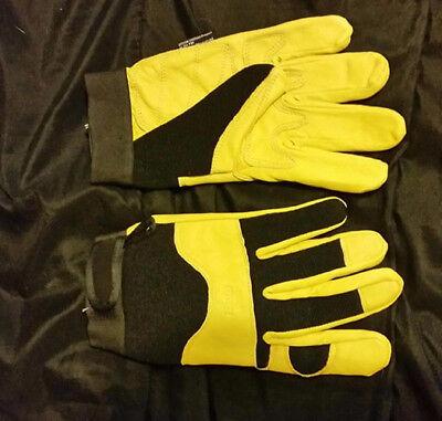 Midwest Gloves With Pbr Logo Premium Goatskin Work Glove Yellow   One Pair