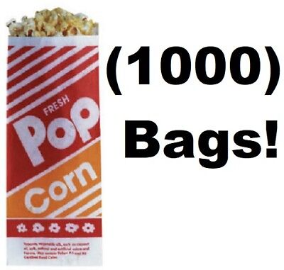 1000 Count Gold Medal 2053 1 Oz. 3 3-12 X 2-14 X 8 Popcorn Bags