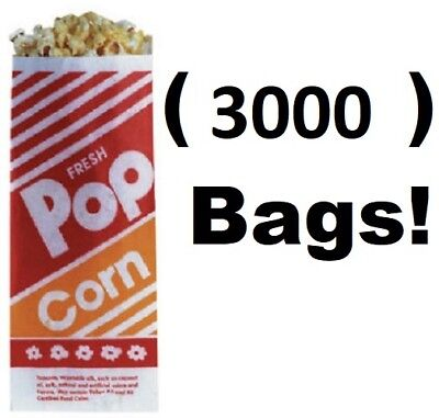 3000 Count Gold Medal 2053 1 Oz. 3 3-12 X 2-14 X 8 Popcorn Bags