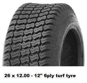 """26 X 12.00 - 12"""" TURF TYRES 6PLY - RIDE ON MOWERS/MINILOADERS/KANGA Midvale Mundaring Area Preview"""