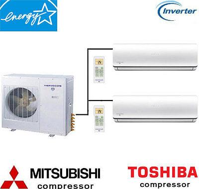 18000 - 60000 BTU Dual Zone Ductless Mini Split Air Conditio