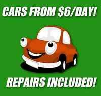 Car Rentals From $6/Day! **REPAIRS AND MAINTENANCE INCLUDED!**