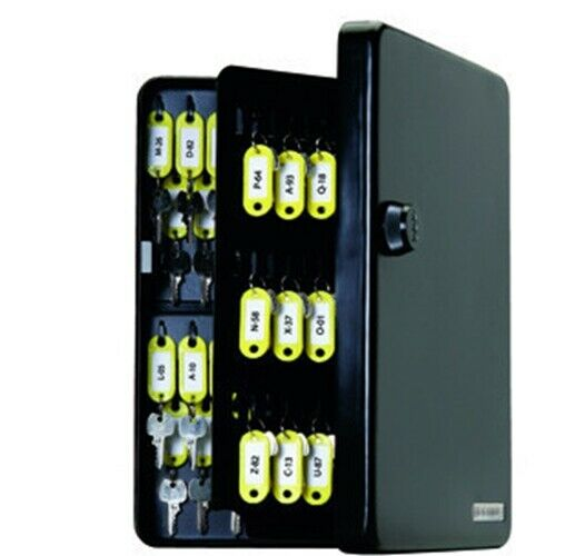 Standard Wall Mount 122 Key Storage Cabinet Organizer Box with Combination Lock