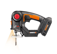 WX550L WORX 20V Axis Cordless Reciprocating & Jig Saw