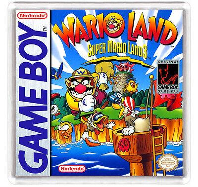 WARIO LAND SUPER MARIO LAND 3 NINTENDO GAME BOY FRIDGE MAGNET IMAN...