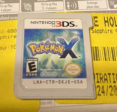 Pokemon X (Nintendo 3DS, 2013) GAME