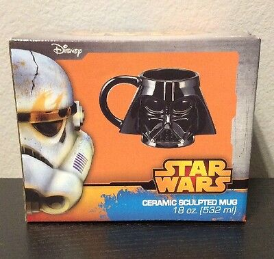 Star Wars Disney Darth Vader Sculpted Ceramic Mug Lucas Film 18oz. 532ml - Films Halloween Disney