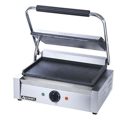 Adcraft Sg-811e-f Panini Grill With Flat Plates