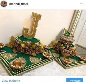 Henna candles mehndi thaal mehndi plates tea lights