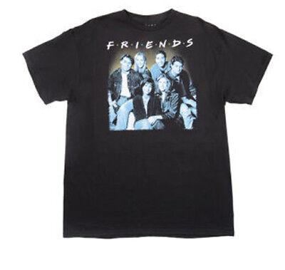New FRIENDS TV SERIES CAST PHOTO Adult Large Black Cotton T-shirt Funny Sitcom
