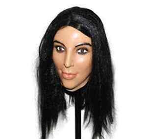 Deluxe Kim Kardashian Mask Latex Overhead Kardashians Fancy Doll Costume Female