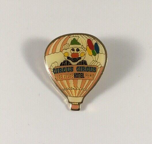 Vintage Circus Circus Hotel Las Vegas  Reno Balloon Hat Lapel Pin