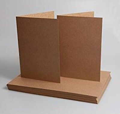 A5 and C5 Kraft Natural Recycled Cards and Envelopes by Cranberry Pack of 20