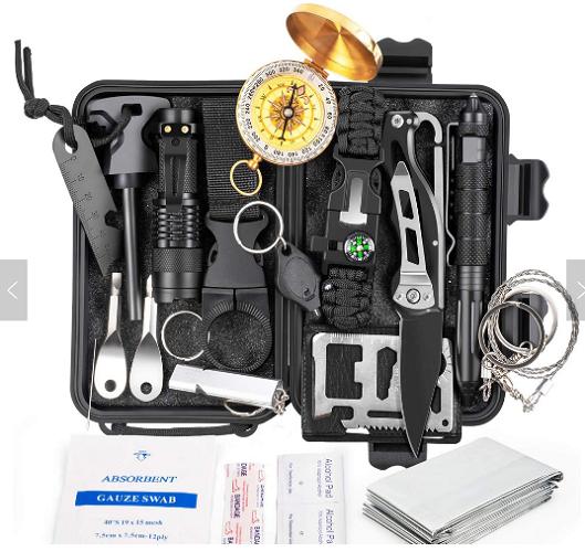 18 in 1 emergency survival gear kit
