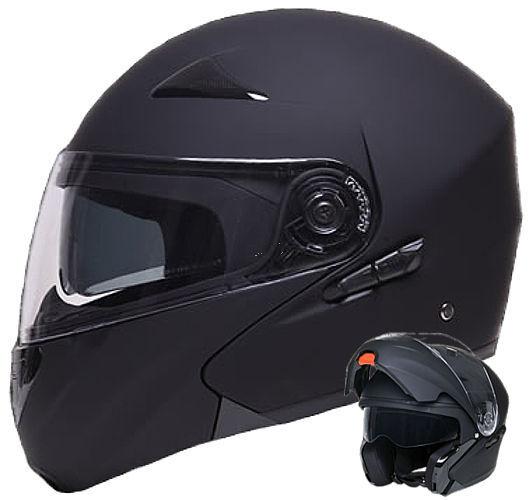 Klapphelm 109 Helm Integralhelm Rollerhelm schwarz matt Motorradhelm S M L XL