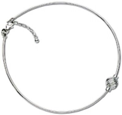 Cape Cod Anklet Sterling Silver Omega Chain with a Sterling Silver Swirl Ball