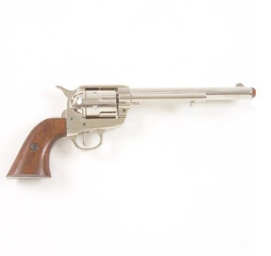 M1873 Old West Cavalry Revolver Replica - Nickel Finish