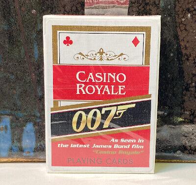 Sealed Deck Playing Cards James Bond Casino Royale 007 Cartamundi NOS Red Back
