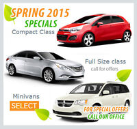 Rent 2013-15 Car models from 145$/week INCL TAXES