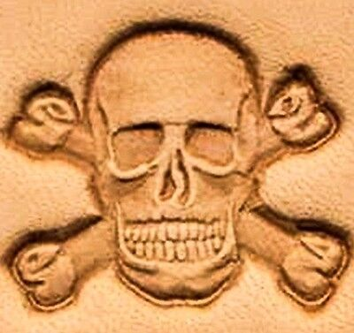 3D SKULL CROSSBONES LEATHER STAMP 854700 Tandy Stamping Tool Pirate Stamps Tools