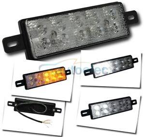 LED FRONT INDICATOR PARK & DRL CLEAR AMBER LIGHT LAMP ARB TJM BULLBAR 12V 24V