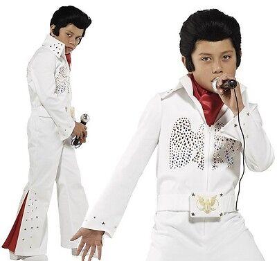 Kinder Jungen Offiziell Lizenziert Deluxe Elvis Maskenkostüm von - Deluxe Kinder Elvis Kostüm