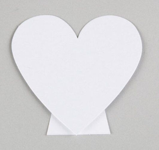 NEW Vintage White Heart Wedding Place Cards - Pack of 10pcs NO P&P