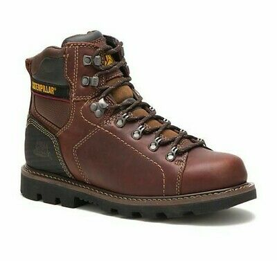 Cat Caterpillar Mens P74124 Alaska 2.0 Soft Toe Brown Footwear Work Boots Shoes