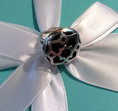 NEW Tiffany & Co. Paloma Picasso Zellige Sterling Silver Onyx Medallion Ring
