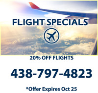 Best Flight Prices Guaranteed! Limited 20% OFF - 438-797-4823