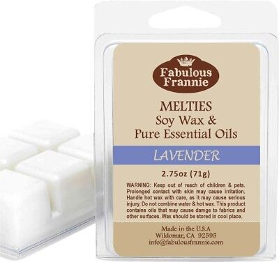 Lavender Natural Candle (LAVENDER 2.75oz Pure & Natural Soy Candle Meltie/Tart/Melts by Fabulous Frannie )