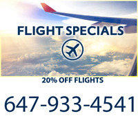✈ Best Flight Prices Guaranteed! 20% OFF - ☎  Call 416-800-1371