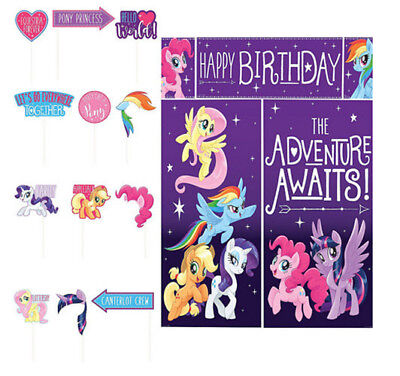 MY LITTLE PONY Scene Setter BIRTHDAY party BACKDROP + 12 photo booth props MLP (Birthday Photo Booth Backdrop)