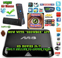 *ANDROID TV*SALE* M8 CP24 TSN CTV FREE MOVIES SPORTS XBMC IP TV