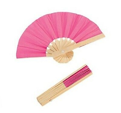 """Lovvbugg Mini Hot Pink Fan for 18"""" American Girl Doll Accessory"""