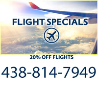 ✈ Best Flight Prices Guaranteed! 20% OFF - ☎ Call 438-814-7949