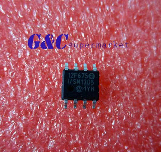 50Pcs PIC12F675 PIC12F675-I/SN SOP8 MICROCHIP MCU CMOS FLASH-BASE 8BIT S1 New