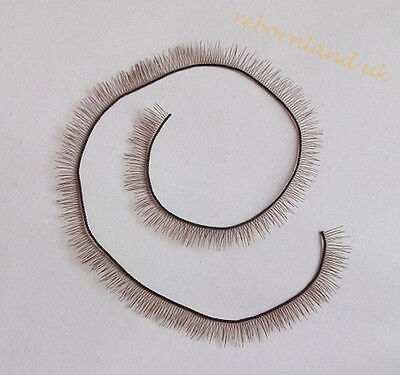 Brown Eyelash For Reborn Baby Dolls Accessories BJS SD doll parts 20cm length