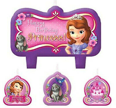 Princess Sofia Birthday (PRINCESS SOFIA THE FIRST Birthday Party CANDLES for cake cupcakes)
