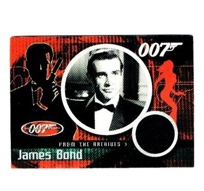 """2002 James Bond 40th Ann. Sean Connery material swatch from """"Dr. No"""" Card #CC1"""
