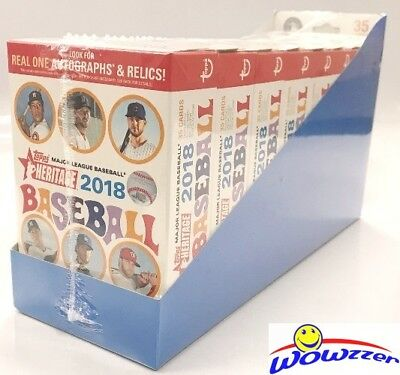 Heritage Case - 2018 Topps Heritage Baseball EXCLUSIVE HANGER Case with 8 Factory Sealed Boxes!