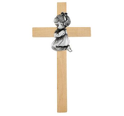 Praying Baby Girl Pewter First Cross Girl Pewter Cross