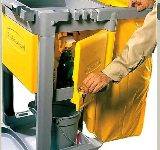 RUBBERMAID FG618100YEL Optional Locking Cabinet,Yellow