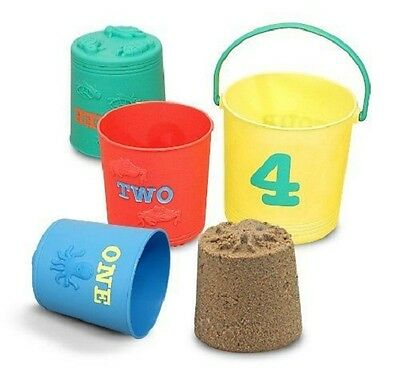 Melissa & Doug Seaside Sidekicks Nesting Pails Sand Toys #6424 BRAND NEW  (Melissa And Doug Sand Toys)