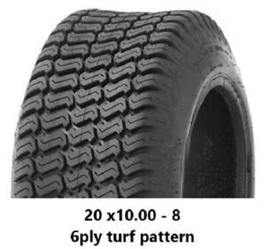 """20 X 10.00 - 8"""" TURF TYRES 6PLY - RIDE ON MOWERS/GOLF CARTS/MINILOADER Midvale Mundaring Area Preview"""