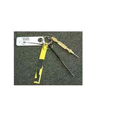 AUTO  RESCUE TOOL KIT CENTER WINDOW SHOVE KNIFE CENTER PUNCH SEATBELT CUTTER  ()