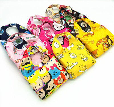 Cute Reusable Grocery Bags (Cartoon Eco Foldable Shopping Bag Reusable Grocery Recycle Cute Tote Bag  )