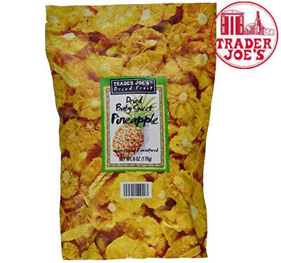 Trader Joe's Freeze Dried Fruit BabySwet Pineapple  Slices Snack -