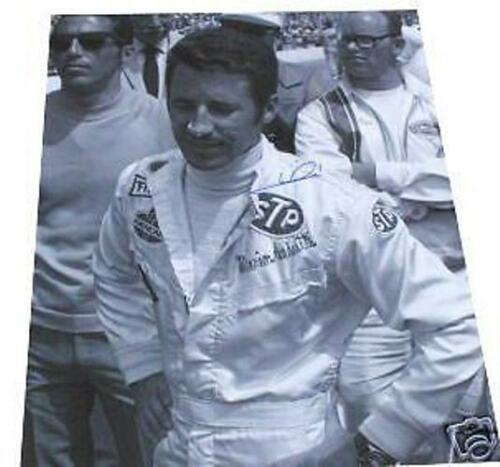 MARIO ANDRETTI  AUTOGRAPHED 1969  INDY 500 16 X 20 PHOTO