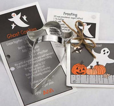 Ann Clark GHOST & HAUNTED HOUSE Tin Plated Steel Cookie Cutter DUO - Halloween Ghosts Recipes